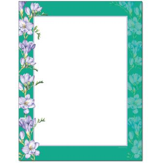 Freesias Letterhead - 25 pack