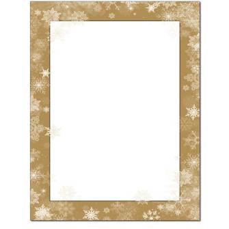 Frosted Wishes Letterhead - 100 pack
