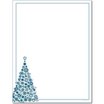 Frosty Tree Letterhead - 100 pack