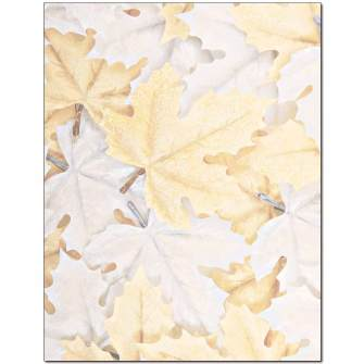 Frozen Leaves Letterhead - 25 pack