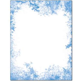 Frozen Window Letterhead - 100 pack