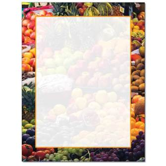 Fruit Stand Letterhead - 25 pack