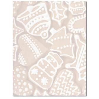 Gingerbread Letterhead - 100 pack