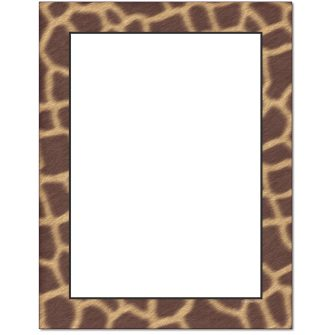 Animal Skins Letterhead - 25 pack