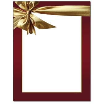 Gold Bow Letterhead