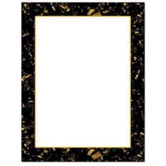 Gold Confetti Letterhead - 25 pack