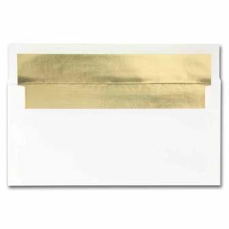 White Gold Foil Envelopes - 25 Pack