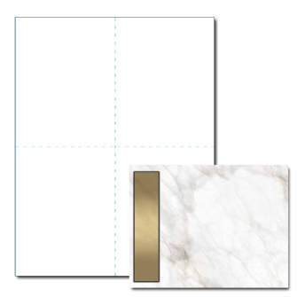 Gold Marble Post Card, 200pk