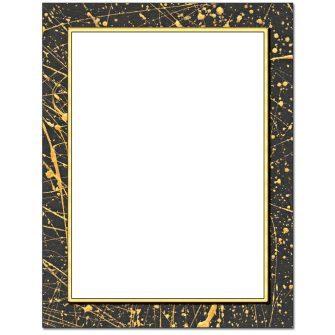 Gold Splatter Letterhead - 25 pack
