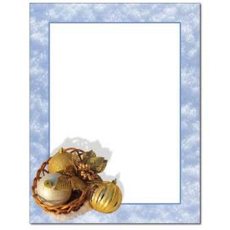 Golden Ornaments Letterhead