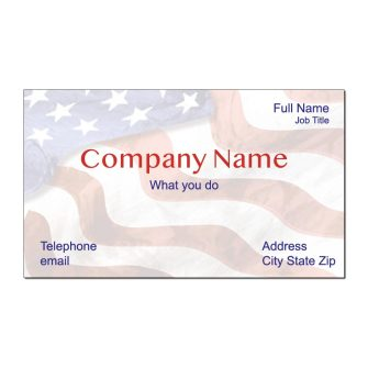 Grand Old Flag Business Card