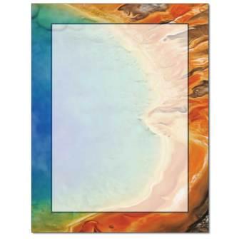 Grand Prismatic Spring Letterhead - 100 pack