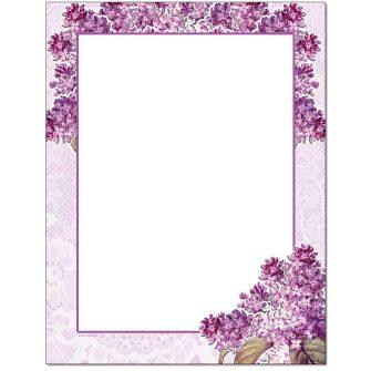 Granny's Lilacs Letterhead - 100 pack