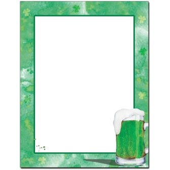 Green Beer Letterhead - 100 pack