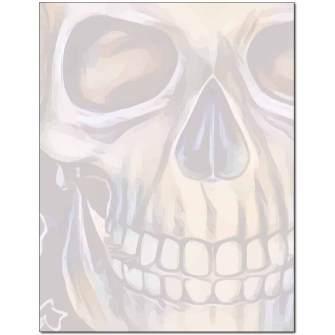Grinning Skull Letterhead - 25 pack