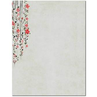 Hanging Vines Letterhead - 100 pack