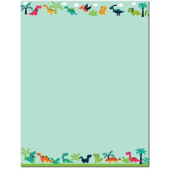 Happy Dinosaurs Letterhead - 25 pack