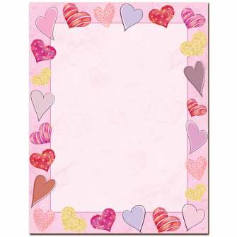Happy Hearts Letterhead - 25 pack