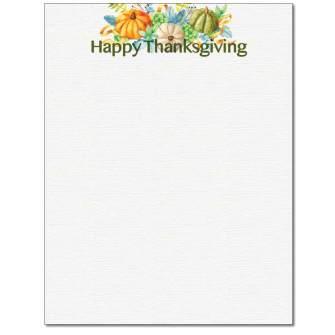 Happy Thanksgiving Letterhead - 25 pack