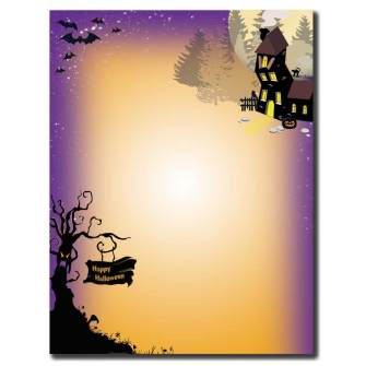 Haunted House Letterhead - 25 pack