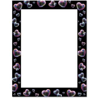 Heart Bubbles Letterhead - 100 pack