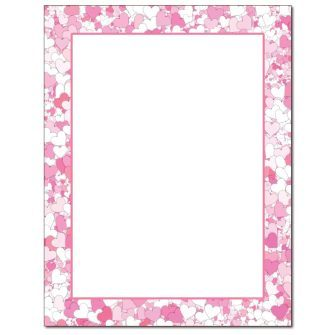 Hearts Abound Letterhead - 25 pack