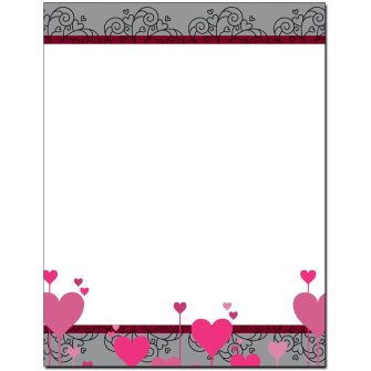 Heart Thoughts Letterhead - 25 pack