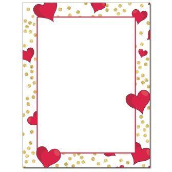Hearts & Confetti Letterhead - 100 pack