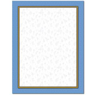 Herbal Blue Letterhead - 25 pack