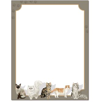 Here Kitty Kitty Letterhead