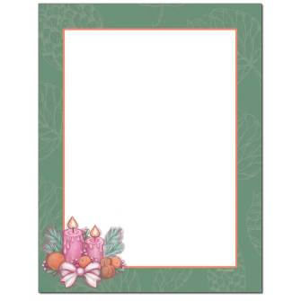 Holiday Centerpiece Letterhead - 25 pack