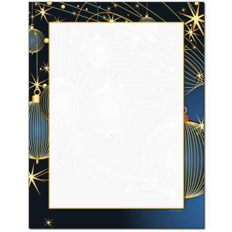 Holiday Deco Letterhead - 25 pack