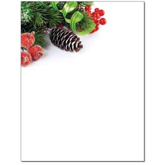 Holiday Decorations Letterhead - 25 pack