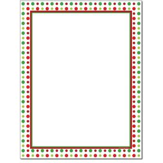Holiday Dots Letterhead - 25 pack
