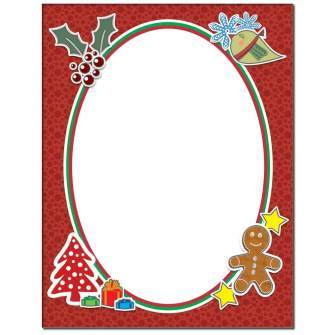 Holiday Frame Letterhead - 100 pack