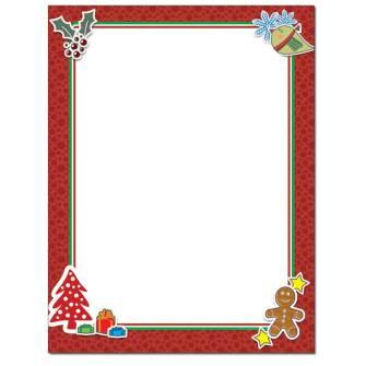 Holiday Frame Letterhead - 100 pack