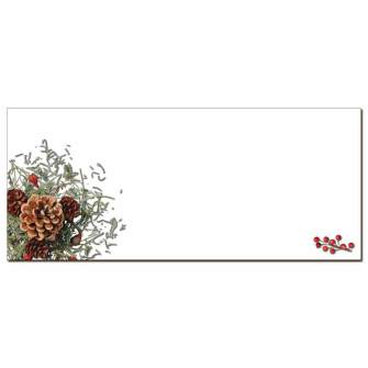 Holiday Greenery Envelopes - 50 Pack