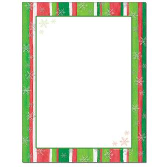 Holiday Stripes Letterhead - 25 pack