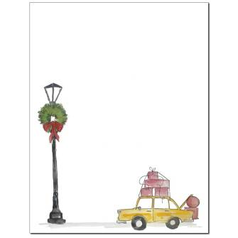 Holiday Taxi Letterhead - 25 pack