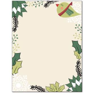 Holiday Tweet Letterhead