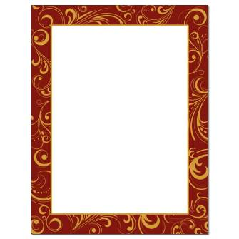 Holiday Toile Letterhead - 25 pack