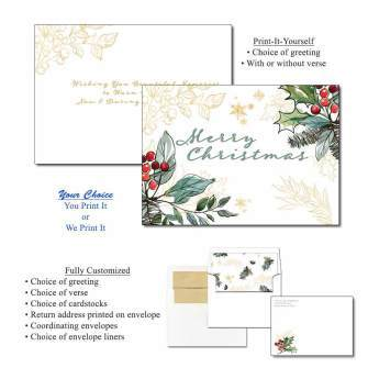 Holly Berries Greeting Cards