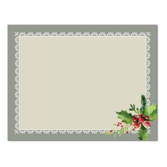 Holly Frame Post Cards, 48pk