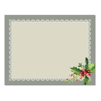 Holly Frame Post Cards, 48pk