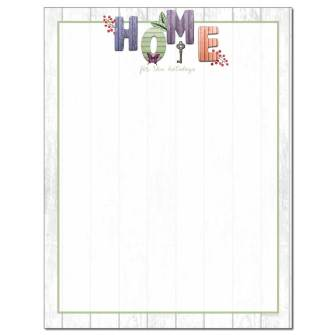 Home For The Holidays Letterhead - 25 pack