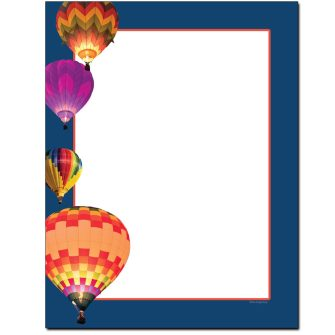 Hot Air Balloons Letterhead - 100 pack