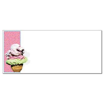 Ice Cream Cone Envelopes