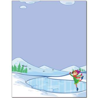 Ice Skating Letterhead
