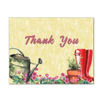 Into The Garden Thank You Card