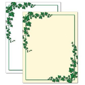 Ivy Border Letterhead - 25 pack